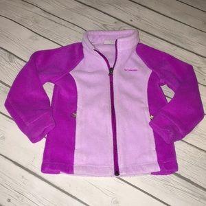 Columbia purple zip down fleece